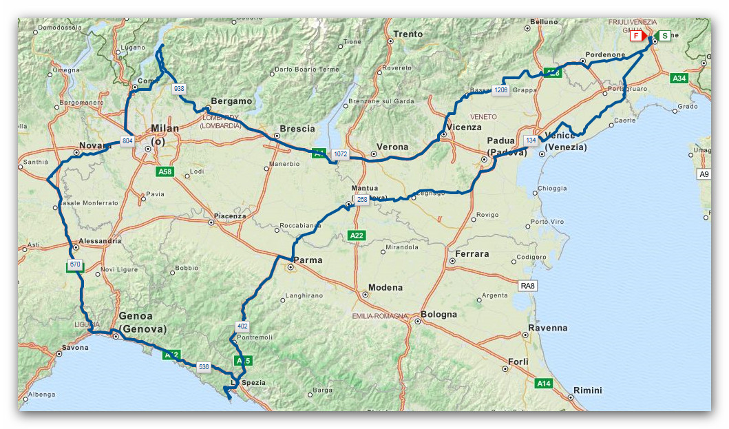 Mappa giro moto