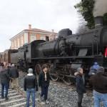 Il treno alla stazione di Maniago