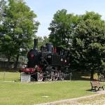 "La locomotiva ""monumento"" a Rive d'Arcano"